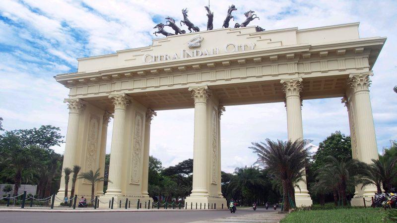 Gerbang Perumahan Citra Indah City Cibubur Cileungsi Jonggol Bogor Ciputra Grup