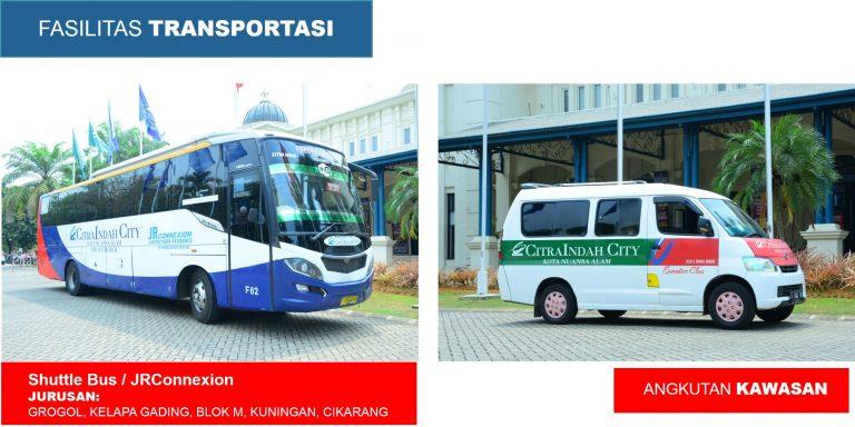 tranportasi bis angkutan Fasilitas Citra Indah City Timur Cibubur Ciputra Grup