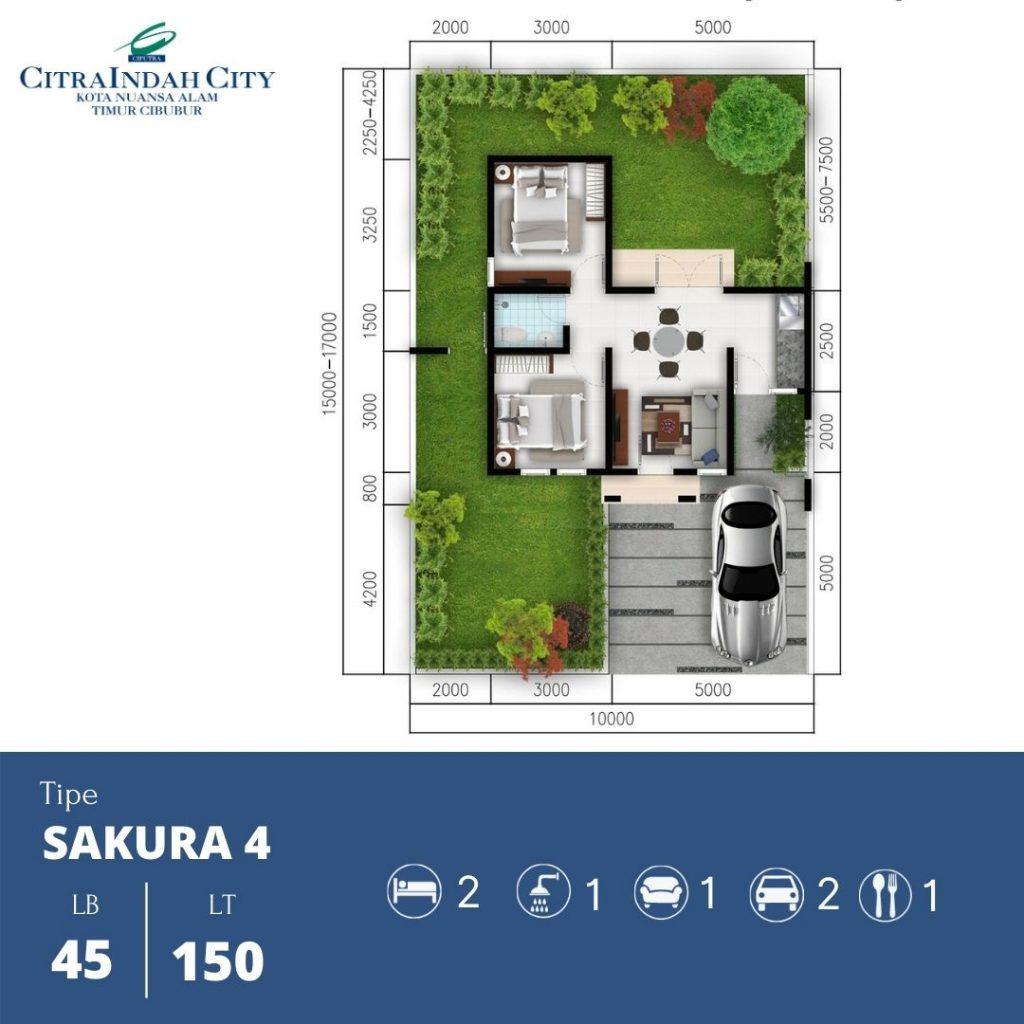 Denah Sakura 4 - 45-150 Citra indah City
