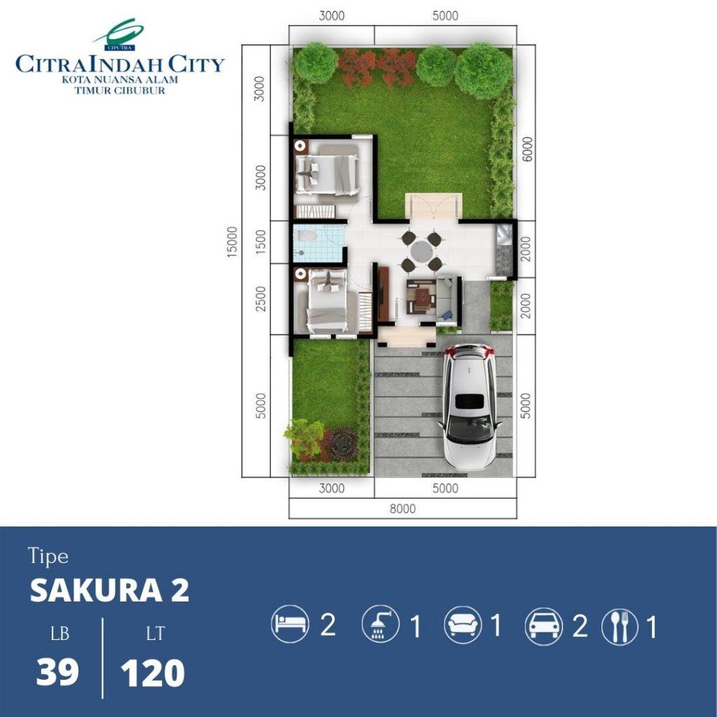 Denah Sakura 2 - 39-120 Citra indah City