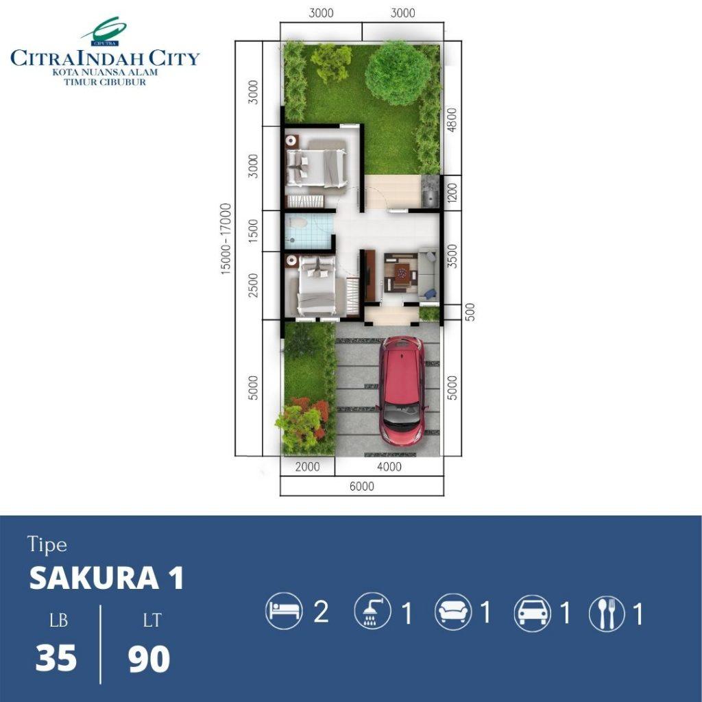 Denah Sakura 1 - 35-90 Citra indah City