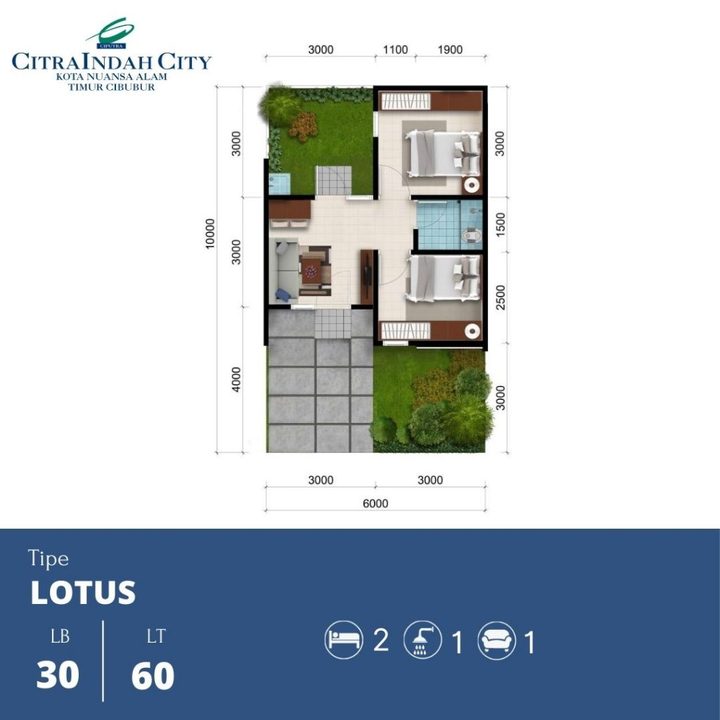 Denah Lotus 30-60 Citra Indah City