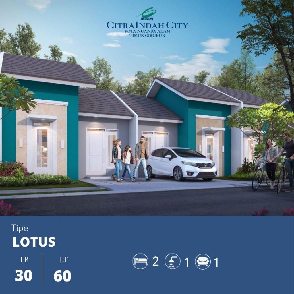 Tipe Lotus 30-60 Citra Indah City